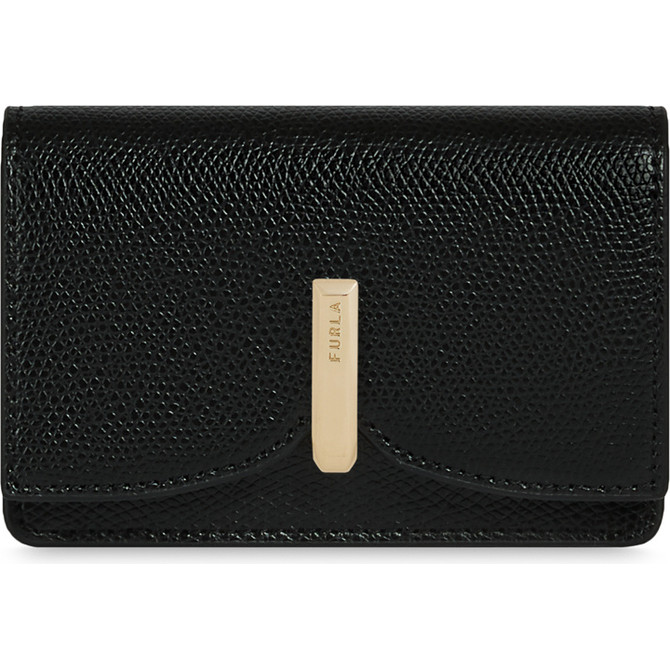 CREDIT CARD CASE NERO FURLA RIBBON