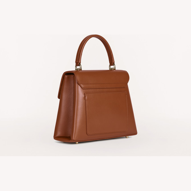 TOP HANDLE S COGNAC h FURLA 1927
