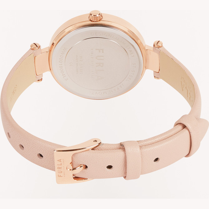 ROUND CASE WATCH CANDY ROSE FURLA NEW PIN