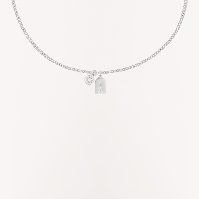 NECKLACE COLOR SILVER FURLA NEW CRYSTAL