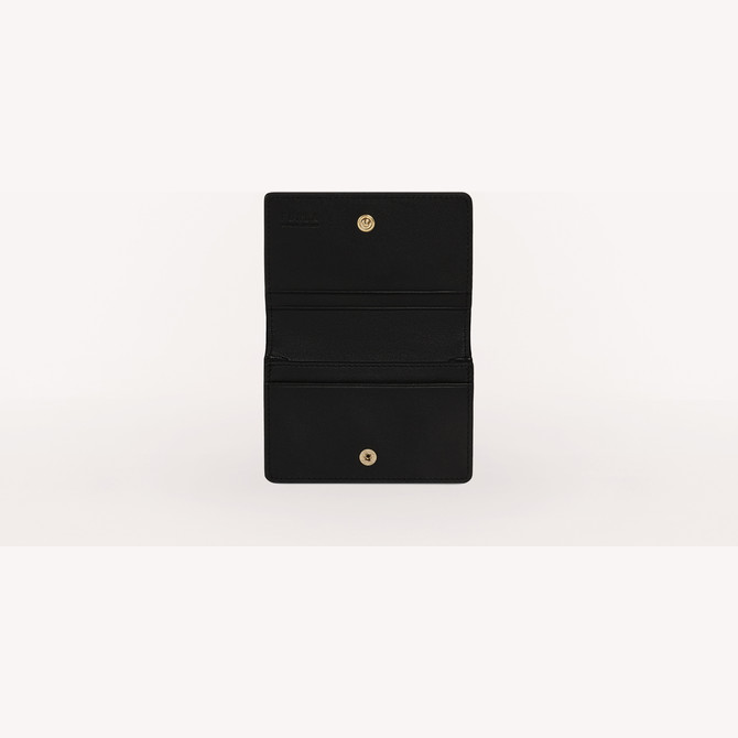 BUSINESS CARD CASE NERO FURLA 1927