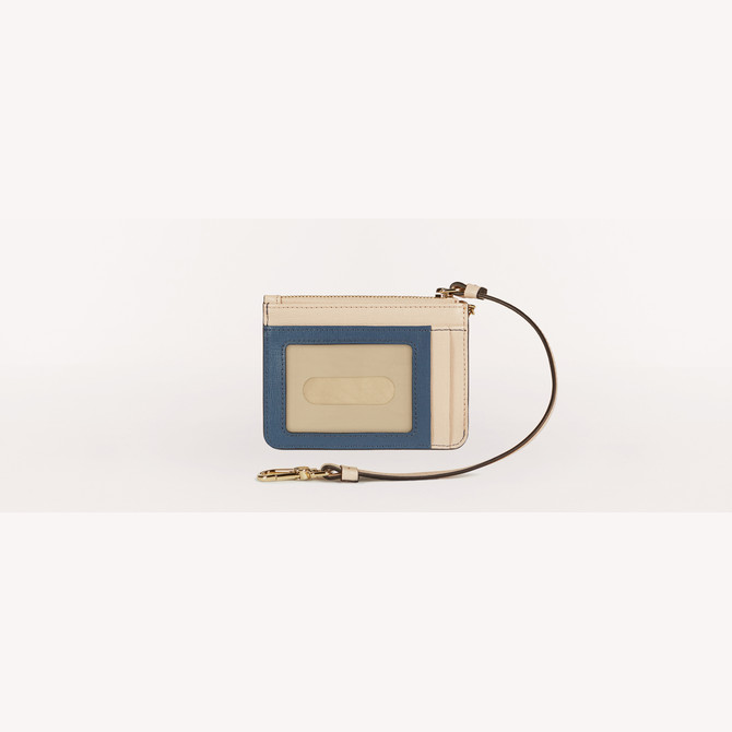 CREDIT CARD CASE BLU DENIM Furla babylon