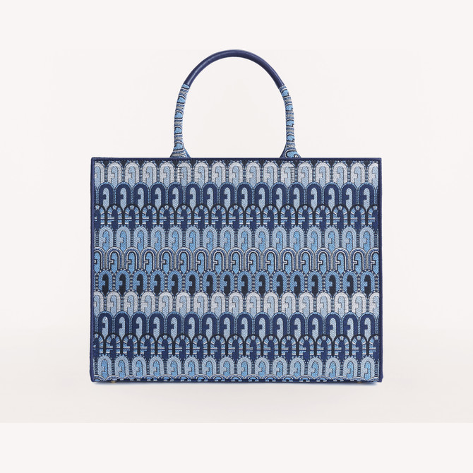 SHOPPING L TONI BLU DENIM FURLA OPPORTUNITY
