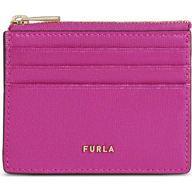 CREDIT CARD CASE FLAMINGO PURPLE i FURLA BABYLON