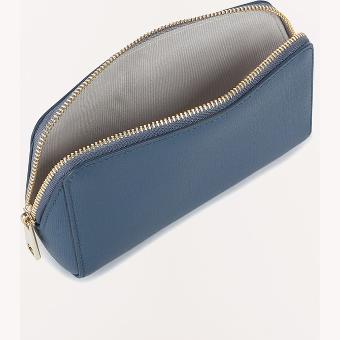 COSMETIC CASE BLU DENIM FURLA ELECTRA