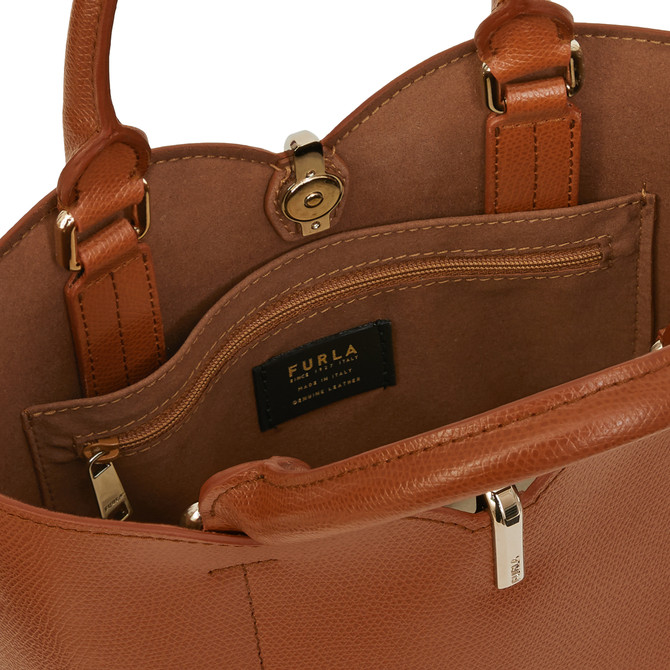 BUCKET BAG S COGNAC h FURLA RIBBON