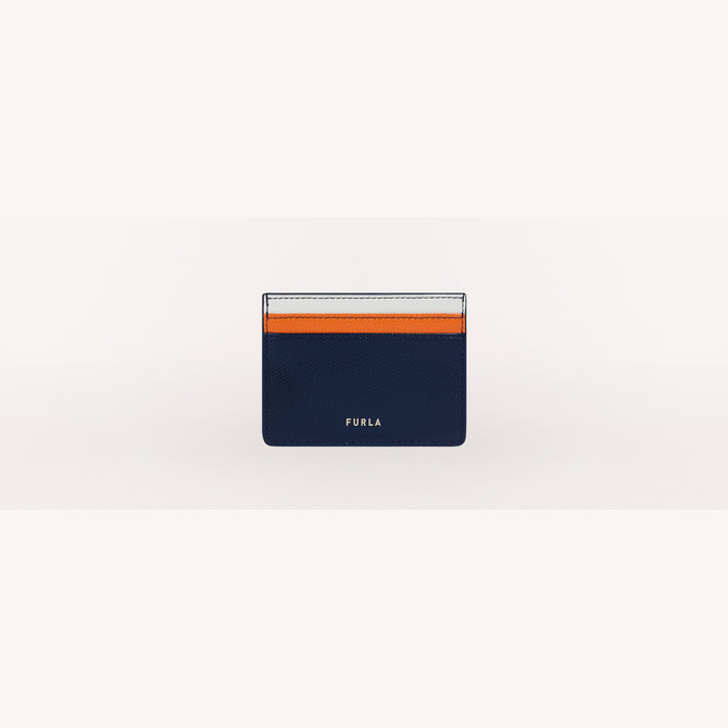 CREDIT CARD CASE BLU d FURLA MAN PROJECT