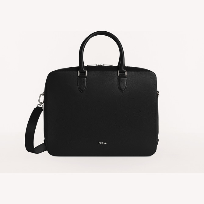 BRIEFCASE NERO FURLA MAN PROJECT