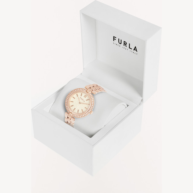 WATCH COLOR ORO ROSA FURLA LOGO LINKS