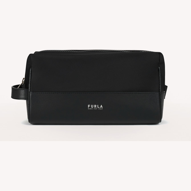COSMETIC CASE NERO FURLA MAN TECHNICAL