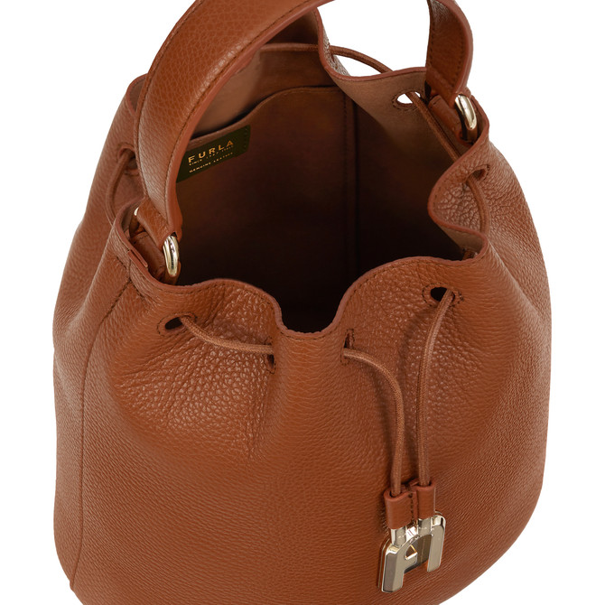 BUCKET BAG S COGNAC h FURLA SLEEK