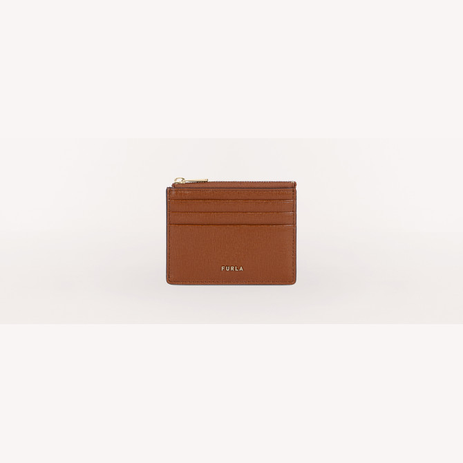 CREDIT CARD CASE COGNAC h FURLA BABYLON