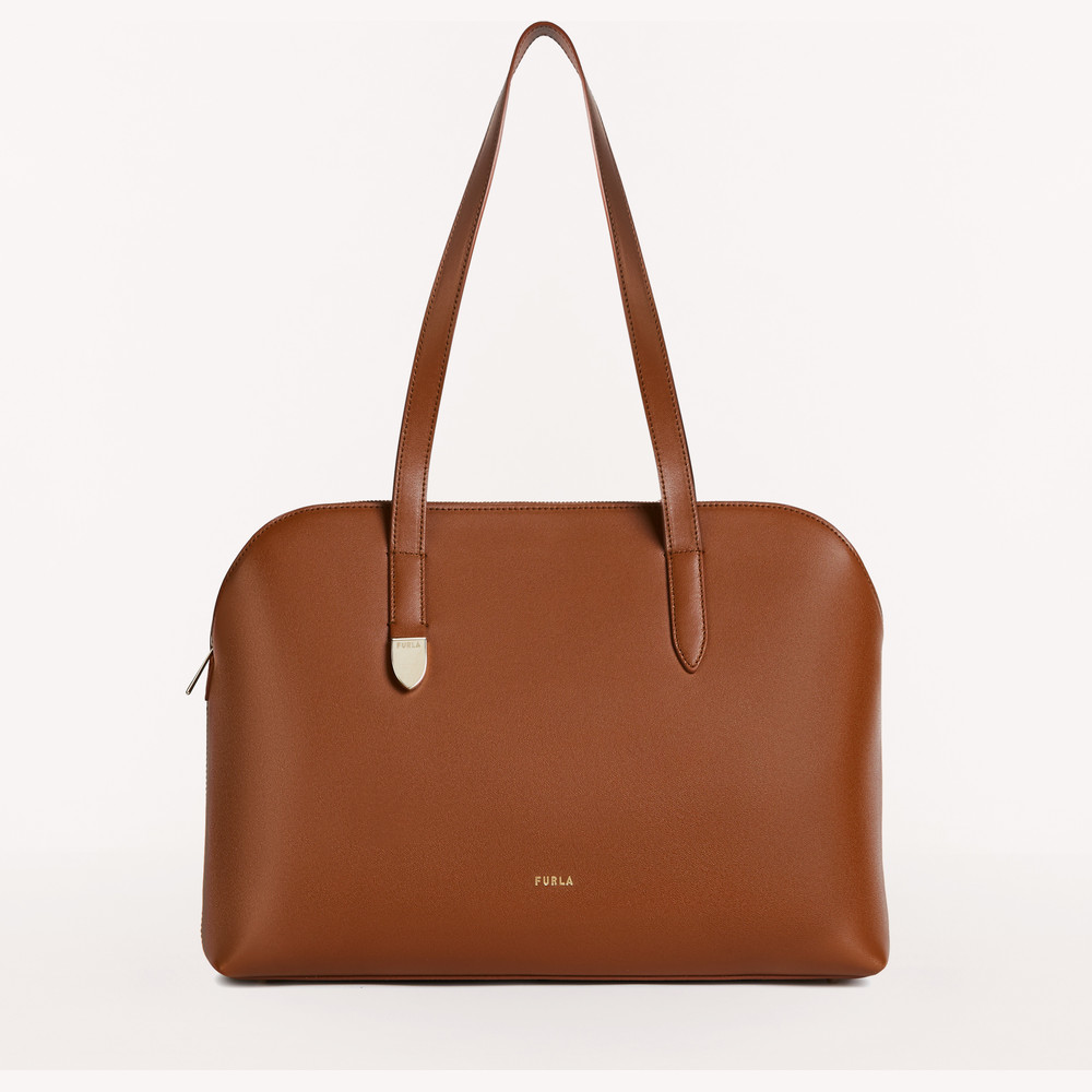 SHOPPING L COGNAC hFURLA BLOCK