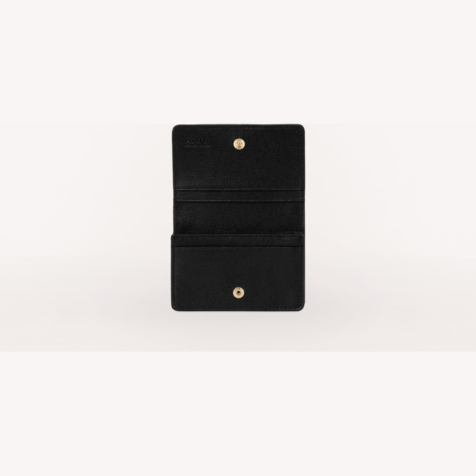 BUSINESS CARD CASE NERO FURLA BABYLON
