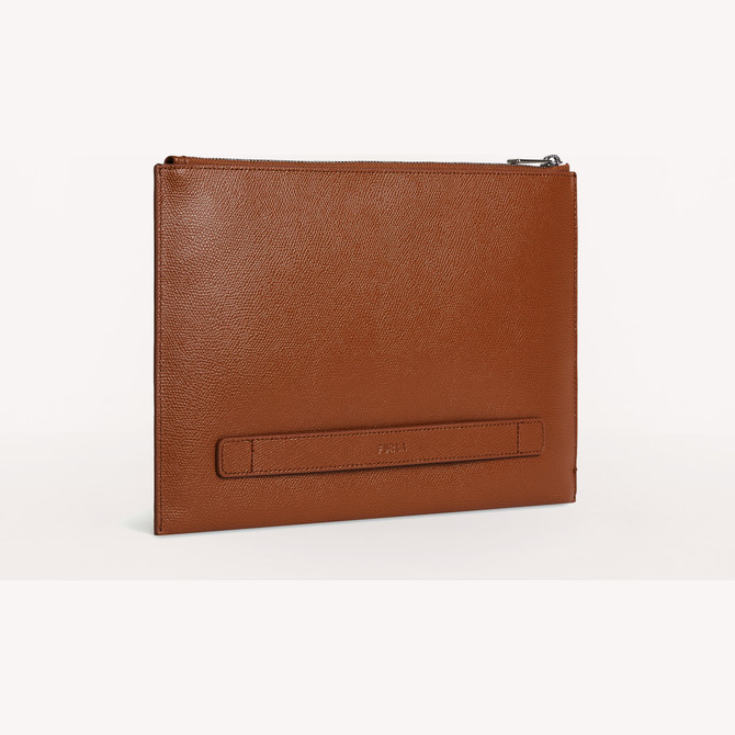 MALA ENVELOPE COGNAC h FURLA MAN PROJECT