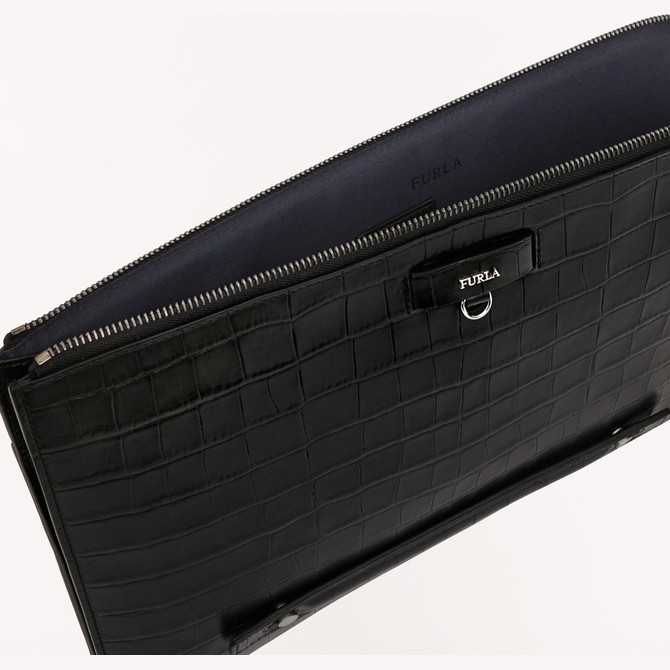 DOCUMENT HOLDER NERO FURLA MAN MARTE