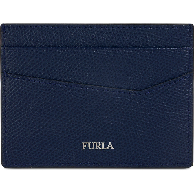 CREDIT CARD CASE BLU d FURLA MAN MARTE