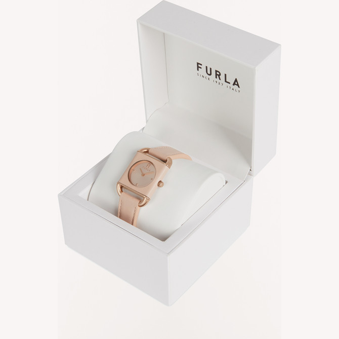WATCH WITH SQUARE CASE Candy Rose FURLA ARCO SQUARE