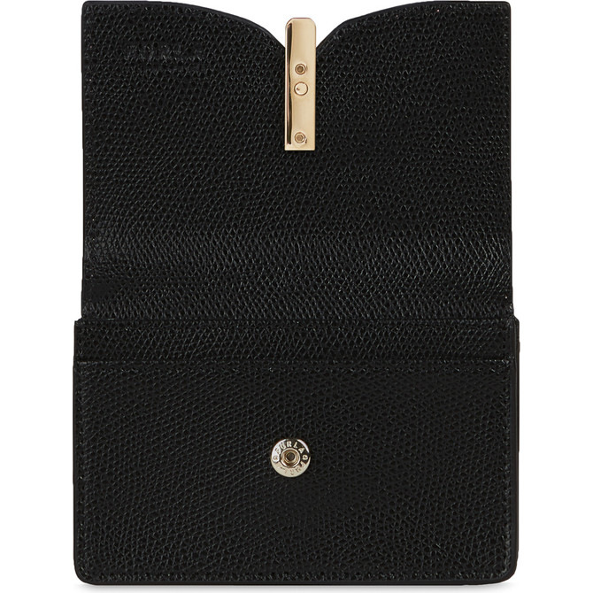 BUSINESS CARD CASE NERO FURLA RIBBON