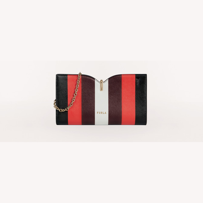ポシェット S NERO FURLA RIBBON