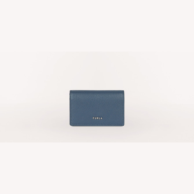 CREDIT CARD CASE BLU DENIM FURLA MAN PROJECT