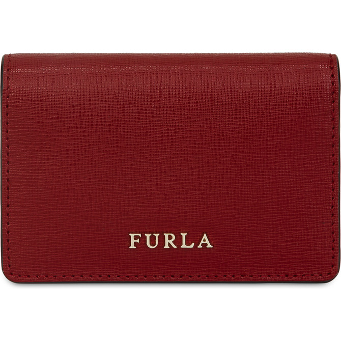 BUSINESS CARD CASE CILIEGIA d FURLA BABYLON