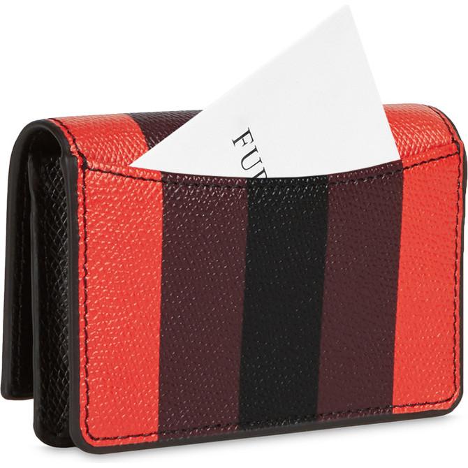 BUSINESS CARD CASE NERO FURLA RIBBON