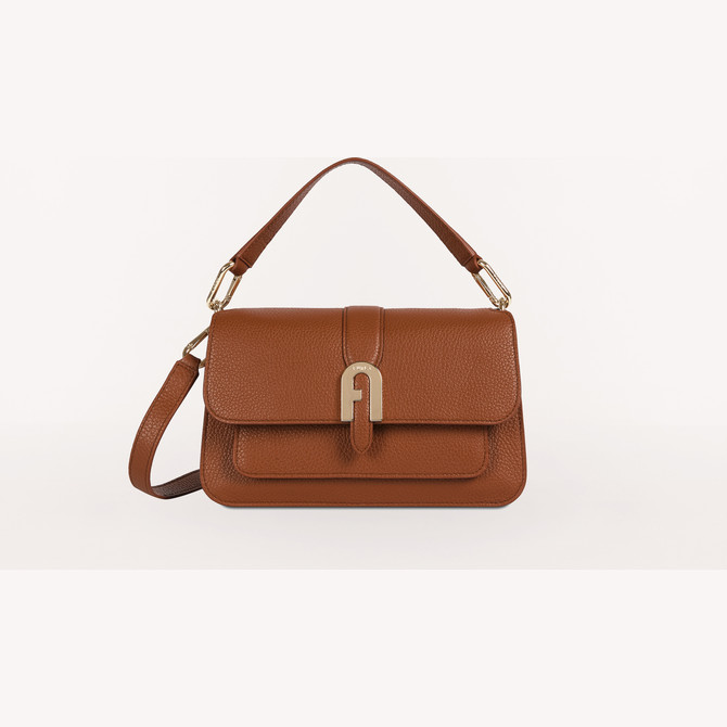 TOP HANDLE S COGNAC h FURLA SOFIA GRAINY